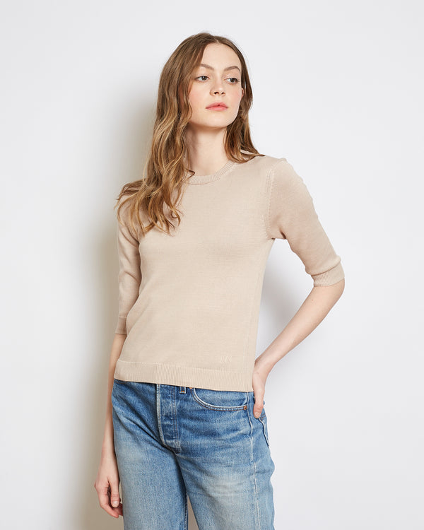 organic cotton sweater kawai light beige