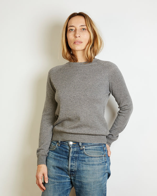 light cashmere sweater mila grey