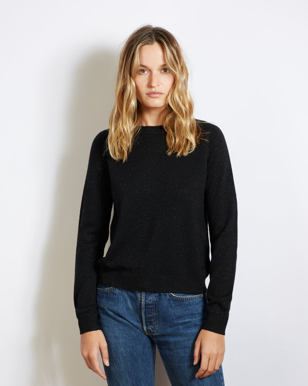 cashmere sweater silk mila night black