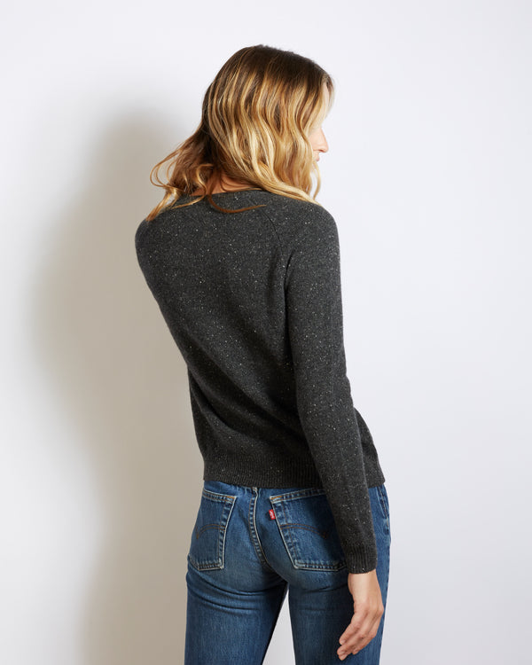 cashmere sweater mila tweed black