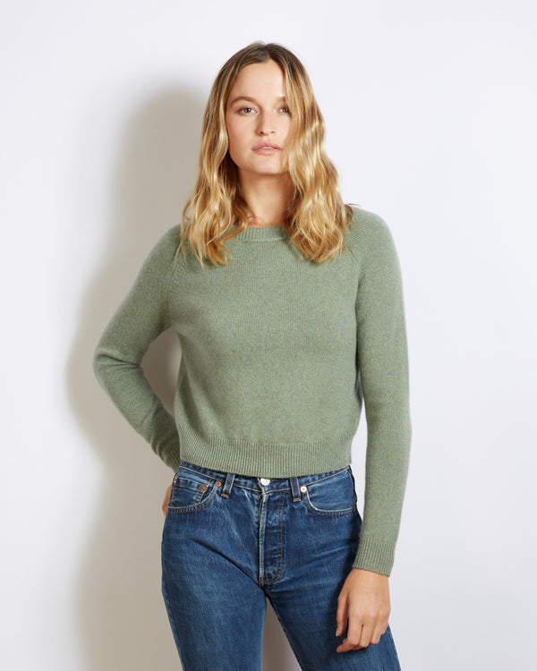 pull cachemire mini mila green