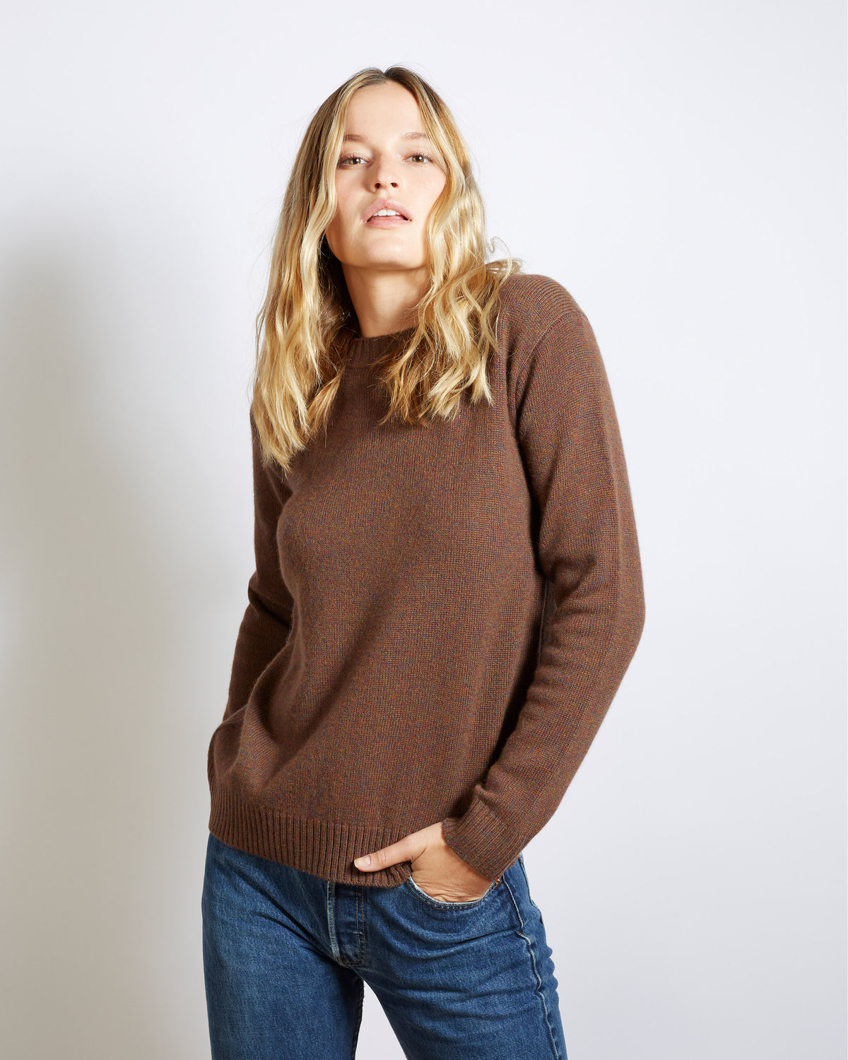 pull cachemire virgile brown
