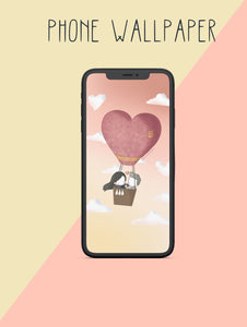 Hot Air Balloon Love Wallpaper
