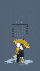 Sunday to Saturday April 2020 Three Under the Rain wallpaper