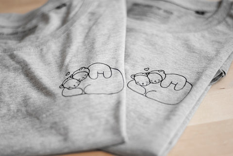 Unisex Cuddly Bears Line Three Under the Rain T-Shirt