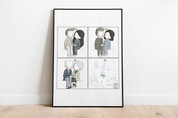 Growing Old Together Artwork Print