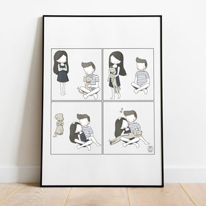 I Want Cuddles Too Artwork Print