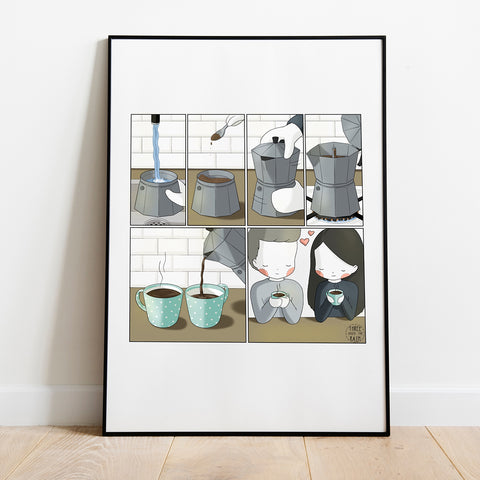 Moka Coffee Pot Process Artwork Print