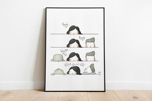 Ready, Steady, Woof! (Go) Nap Time Artwork Print