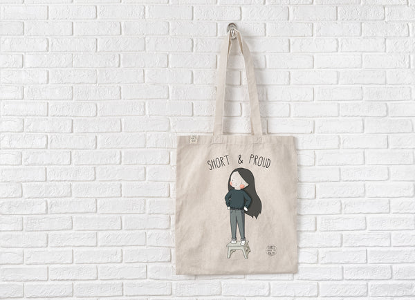 Short and Proud Tote Bag