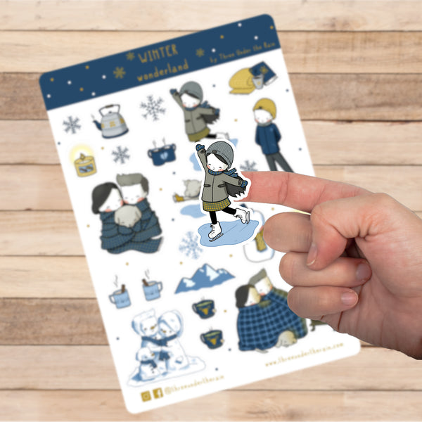 Winter Wonderland Kiss Cut Stickers Sheet