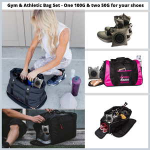 Gym Bag Set of Charcoal Air Purifying Bags & Shoe Deodorizer
