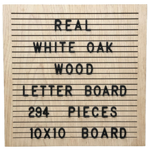 "Load image into Gallery viewer, Terra Lifestyle Co's 10x10 White Oak Letter Board - Authentic wood | Modern Upscale Message Board | 294 2"" Letters"