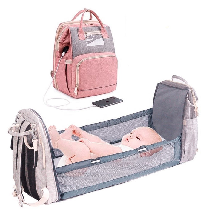Fascination Baby 2-in-1 Diaper Bag and Crib™