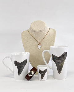 Mona H. Shark Tooth Porcelain 12-ounce Coffee Mug