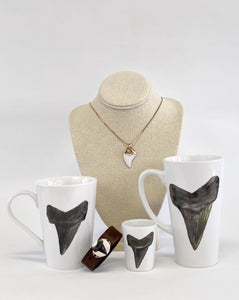 Mona H. Shark Tooth Porcelain Shot Glass