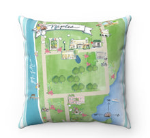Load image into Gallery viewer, Bird's Eye View Map // Naples Pillow