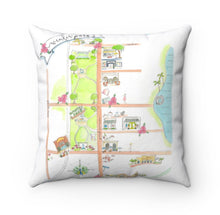 Load image into Gallery viewer, Bird's Eye View Map // Winter Park Pillow