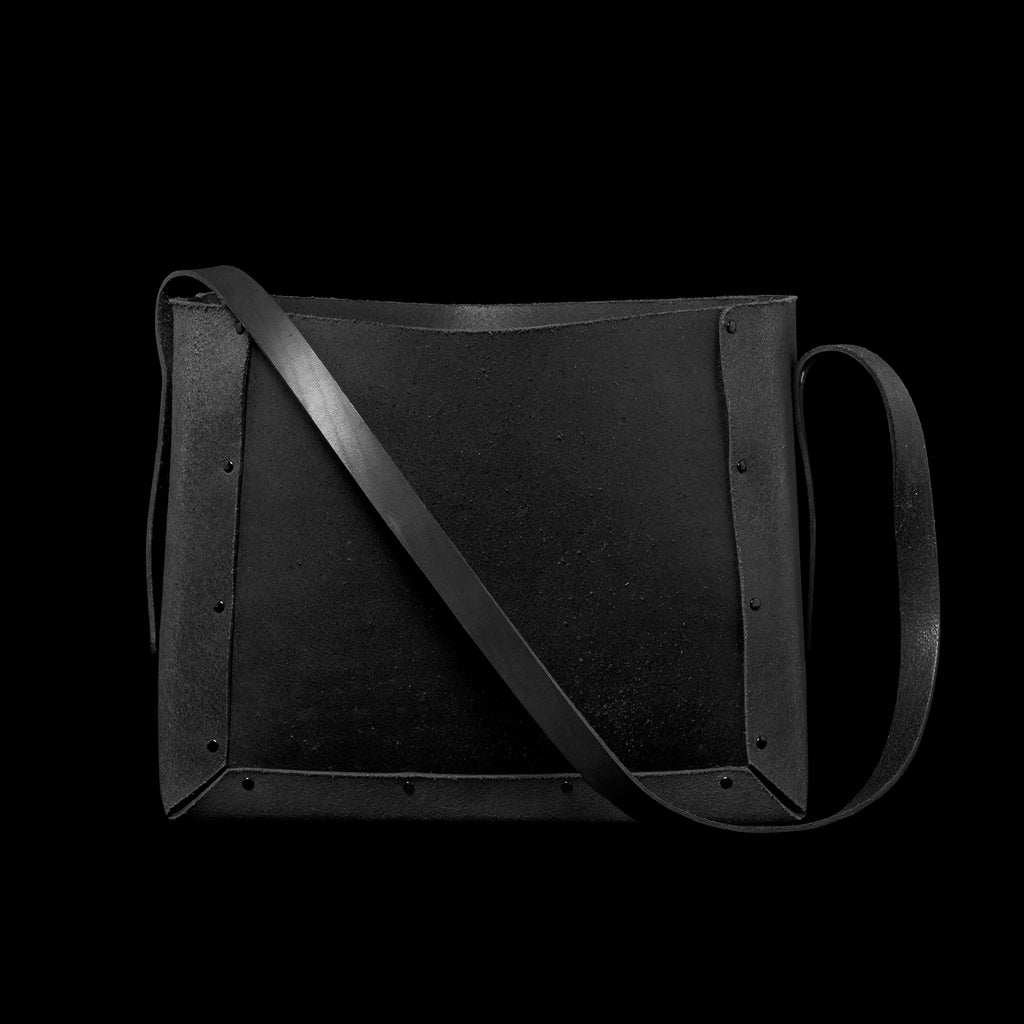 BLACK LEATHER ANYBOX (SHOULDER BAG TYPE)