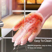 Load image into Gallery viewer, Multifunction Silicone Cleaning Gloves