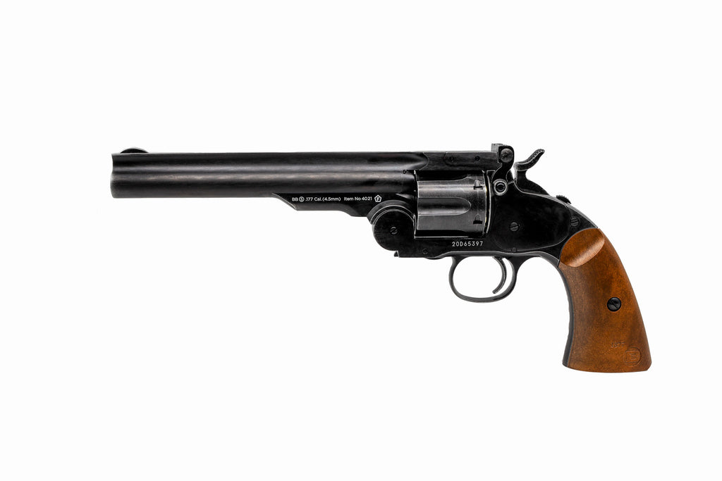 Barra Airguns Aged Schofield No. 3 Revolver - .177 CO2 Full Metal Airgun Pistol