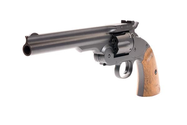Barra Airguns Gun Metal Schofield No. 3 Revolver - .177 CO2 Full Metal Airgun Pistol