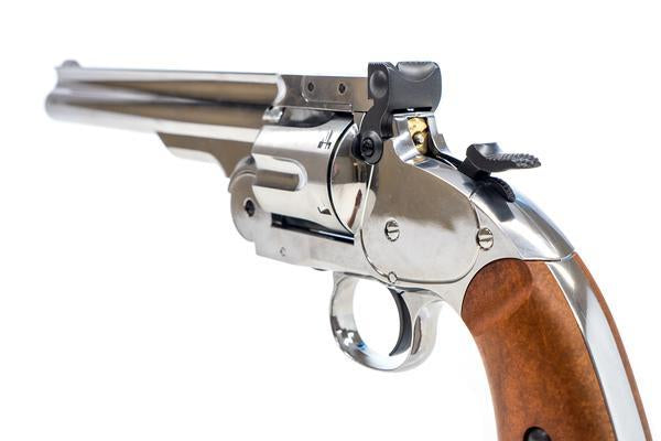 Barra Airguns Nickel Schofield No. 3 Revolver - .177 CO2 Full Metal Airgun Pistol