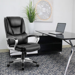 Adjustable Tilt Angle High-Back Leather Executive Swivel Office Armchair Computer Chair Special Offer Staff Chair