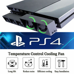 5fan PS4 Game Accessories Play Station 4 Host Cooling Fan Cooler External