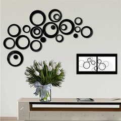 DIY Circles Stickers Indoors Decoration Stereo Removable 3D Art Wall Stickers Home Decor