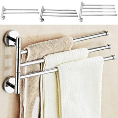 Stainless Steel Towel Shelf Wall-Mounted Bathroom Holder Adhesive Force Bathroom Shelf Pendant Toilet Roll Paper Hanging