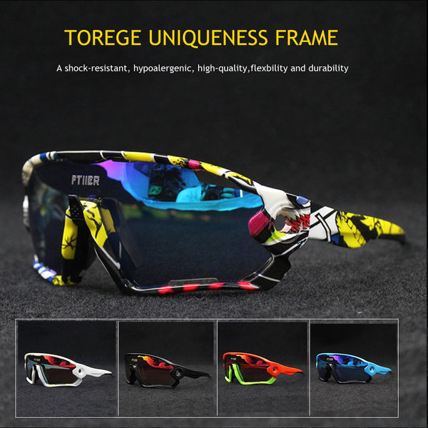 Promotion Cycling Glasses UV400 Bicycle Sunglasses Outdoor Sports Bike Eyewear Riding Goggles Fishing Hiking Sun Glasses
