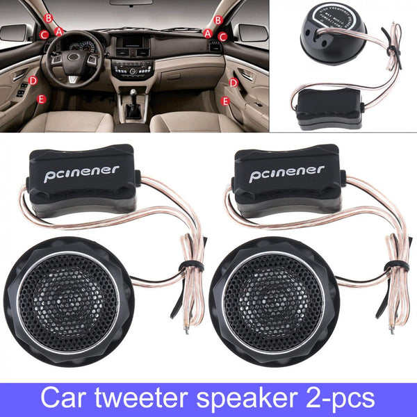 2pcs 150W Durable Universal  High Efficiency Mini Dome Car Tweeter Speakers for Car Audio System