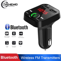 Smart Universal Bluetooth Audio Receiver Wireless Bluetooth Receive Auto FM LED Digital Display Handsfree Car Accessories