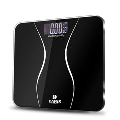 SDARISB Bathroom Scales Floor Body Smart Electric Digital Weight Health Balance Scale Toughened Glass LCD Display 180kg/50g