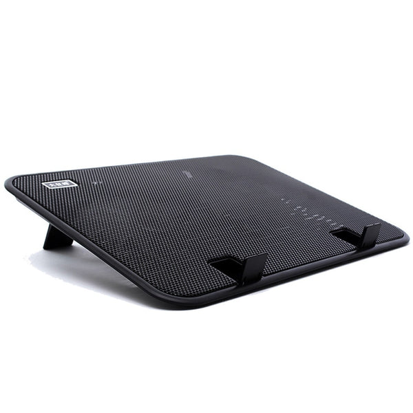 14 inch Notebook Cooler 5v USB External Laptop Cooling Pad Slim Stand High Speed Silent Fan Metal Panel