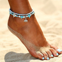 Sea Turtle Starfish Beach Shell leg Anklet ankle anklets Bracelet For Women boho barefoot sandals Bracelets fashion jewelry