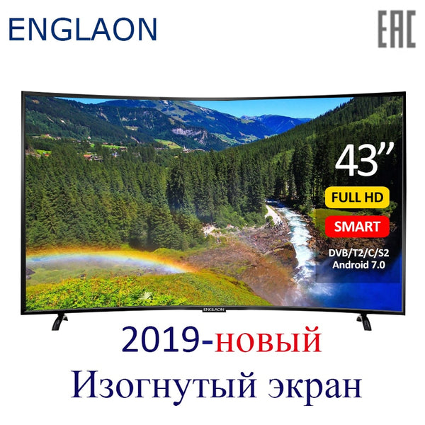 TV 43 inch ENGLAON UA430SF led television smart TV Curved TVs Smart + TV digital TV Android7.0