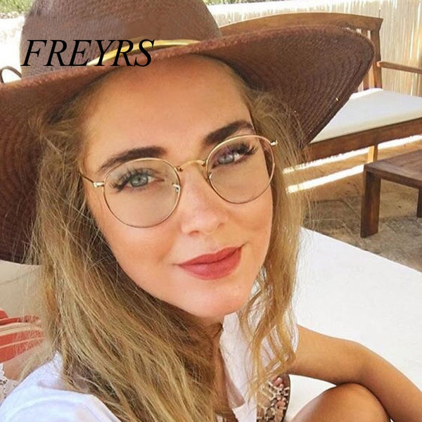 Computer Glasses 2019 Eyewear Frame Anti Blue Light Game Glasses Anti Glare Eyeglasses Frame Women Round Clear Lens Glasses 5029