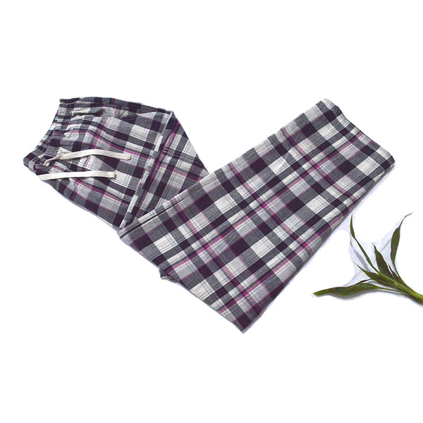 Cheap Loose Pants Cotton Plaid Spring Summer Women's Sleep bottoms Pajamas Bottoms Sleepwear Pants Women pyjamas Pants Home wear