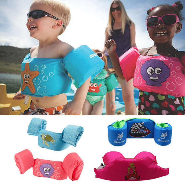 Hot Baby Boys Girls Life Vest Cartoon Toddler Float Surfing Swimming Ring Pool Infant Kid Swimming Life Jacket Buoyancy 2-7T