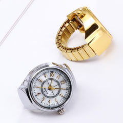 Hot Sale Dial Quartz Analog Watch Creative Steel Cool Elastic Quartz Finger Ring Watch Fashion Gold Silver Luxury Watches
