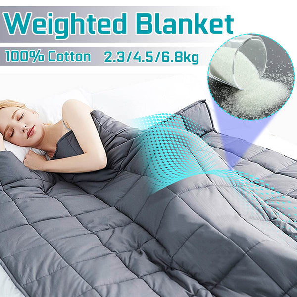Weighted Blanket for Adult Blankets Decompression Sleep Aid Pressure Sleeping Blanket Heavy Blanket Throw Blanket Bed