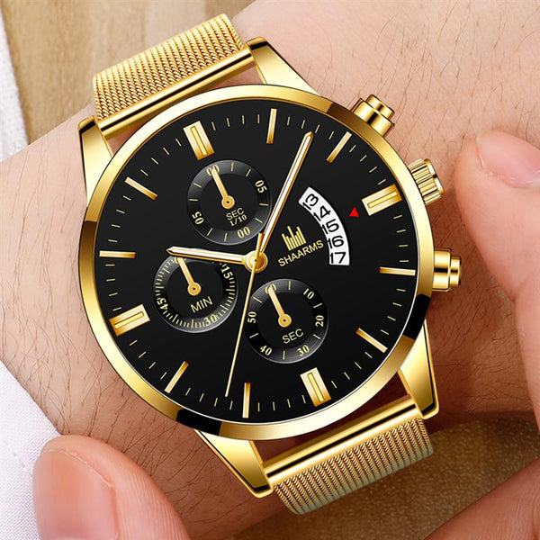 Luxury Military Sport Watches 2019 Fashion Date Watch Luxury Brand Stainless Steel Quartz Watch For Men Business Wristwatch