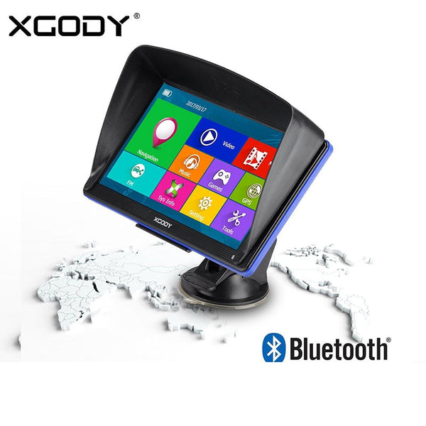 Xgody 7''  Car Gps Navigation Truck Navigator Touch Screen Sat Nav Bluetooth Rearview Camera Window Ce Android System Optional
