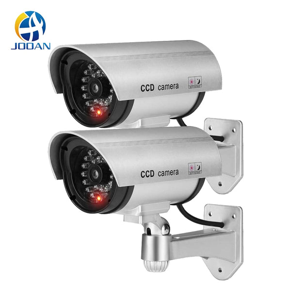 2PCS Dummy Fake Camera CCTV Surveillance Camera Shop Home Security LED Light Simulation Camera Waterproof Outdoor Camera