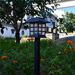 Solar Lights LED Decorative Columns Post Lantern Pole Lamp Pathway Garden Light Landscape Lighting Patio Yard Deck Path