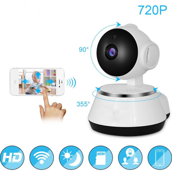 720P WiFi IP Camera  Baby Monitor Portable  HD Wireless Smart Baby Camera Audio Video Record Surveillance Home Security Camera