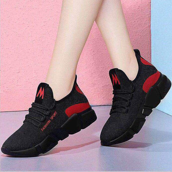 Dropshipping New Women's Vulcanize Shoes Fashion Comfortable Breathable Mesh Shoes Women Casual Lace-up Sneakers XYZ175