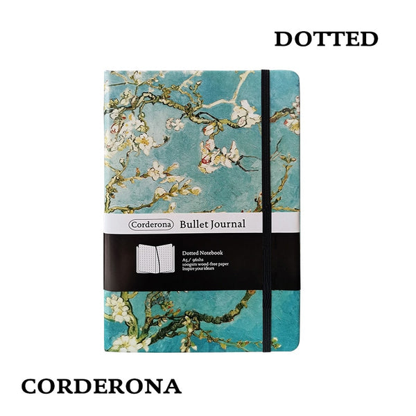 Dot Grid Hard Cover A5 Van Gogh Painting Starry Night Bullet Notebook Simple Dotted Journal Notebooks Writing Pads